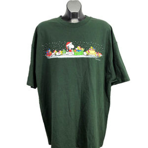 Peanuts Snoopy/Woodstock Christmas T-Shirt NEW 2XL